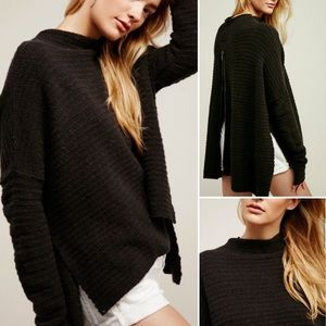 Free People Arctic Fox Pullover Back Zip Sweater